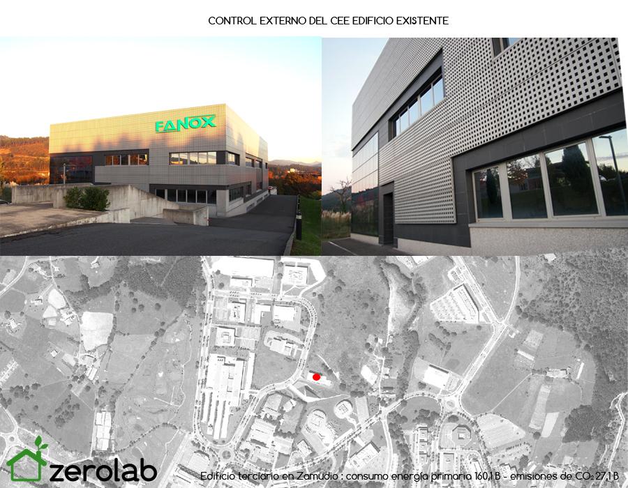 Control externo Certificacion Energetica Parque tecnologico Zamudio