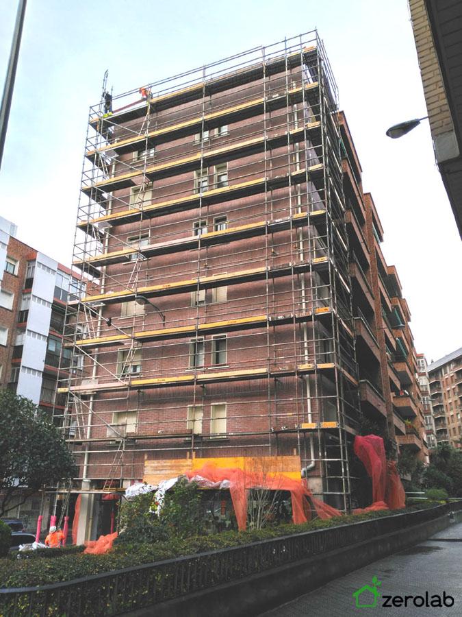 Rehabilitación energética envolvente desmontaje andamio