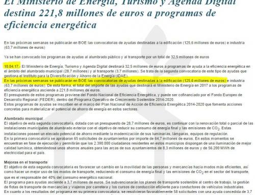 125,6M € AYUDAS para eficiencia energética en edificios